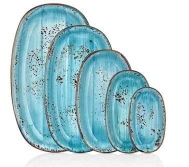 By Bone Porselen Infinity 24 Cm Oval Tabak Renkli